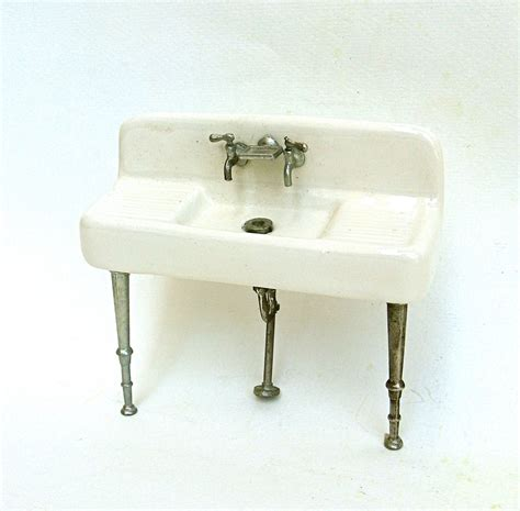Vintage Miniature Kitchen Sink Porcelain Antique Porcelain Kitchen Sink