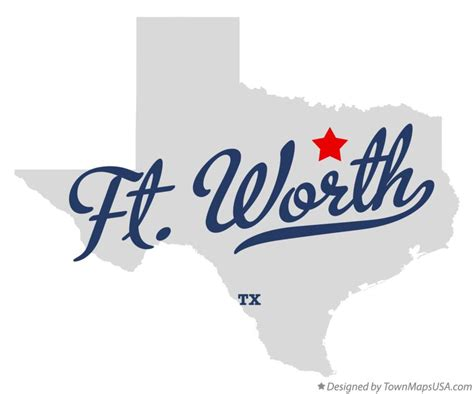 fort worth texas map map of ft worth tx texas