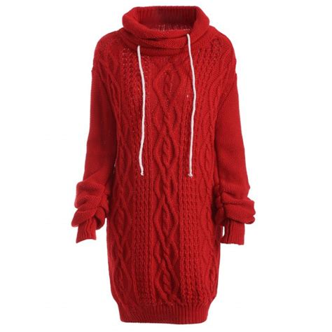 Turtleneck Cable Knit Dress wholesale turtleneck sleeve cable knit sweater dress