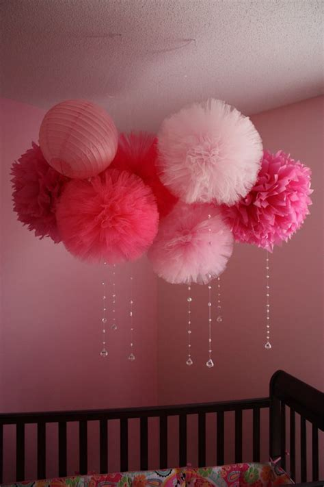 tulle poms streamers and i am on