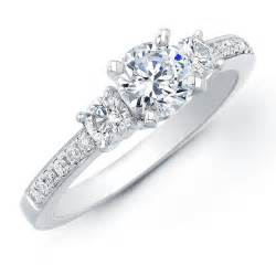 Engagement Ring by 1ct Tw Diamond Three Stone Engagement Ring