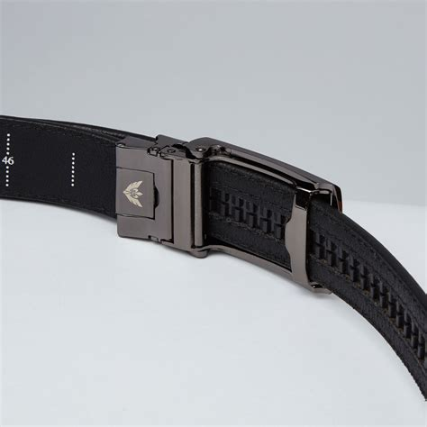 black top grain leather belt black slidebelts touch