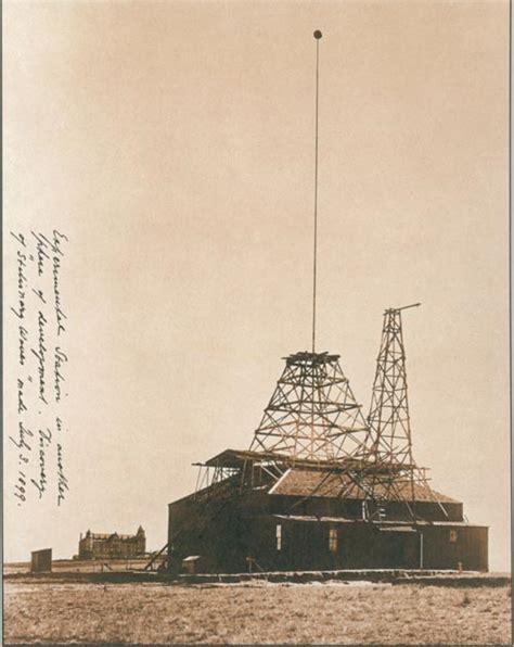 Tesla In Colorado Springs Above Experimental Station At Colorado Springs Where The