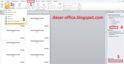 cara membuat label undangan di microsoft office cara print label undangan di ms word dari data excel