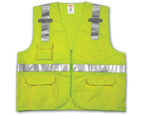 Gaia Color 107 Fluorescent Yellow Green ansi 107 class 2 safety vests fluorescent yellow green solid mesh reflective h pattern 2