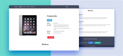 Free Bootstrap 4 Templates Stunning Responsive Material Design | amazing product template gallery resume ideas namanasa com