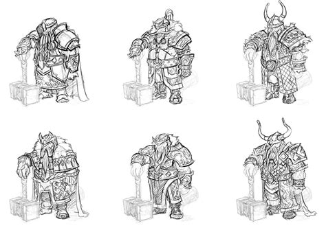 sketch book vk armor sketches characters everquest next