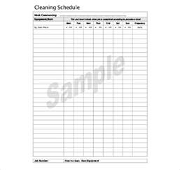 commercial kitchen cleaning schedule template cleaning schedule template 33 free word excel pdf