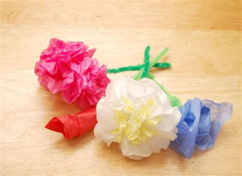 How To Make Flower Using Paper - tissue paper flowers viral rang