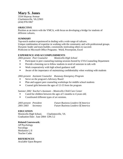 Resume Counselor Exle by Entry Level Freshers Guidance Counselor Resume Template