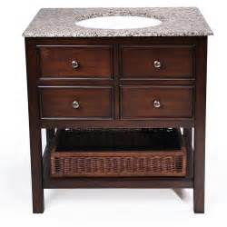 simpli home 24 quot burnaby bathroom vanity with granite top