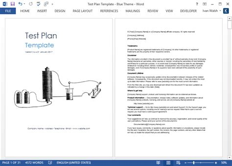 Test Plan Download Ms Word Excel Template Microsoft Word Test Plan Template