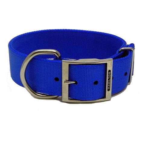 wide collars hamilton blue collar 1 3 4 x 30 inch collars fixed length at