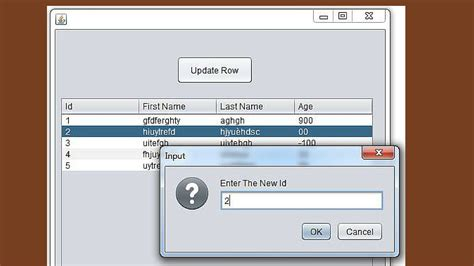 java netbeans jtable tutorial java how to update a jtable row using joptionpane