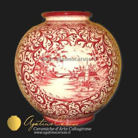vasi caltagirone vaso in ceramica p011 ceramiche di caltagirone agatino