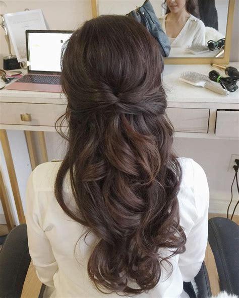 partial updo bridal hairstyle half up half wedding hairstyles weddinghair bridalhair