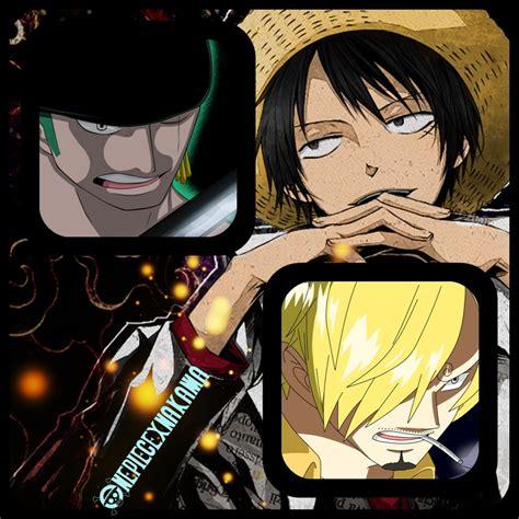 Onepiece Luffy Sanji Zoro one luffy zoro sanji by onepiecexnakama on deviantart