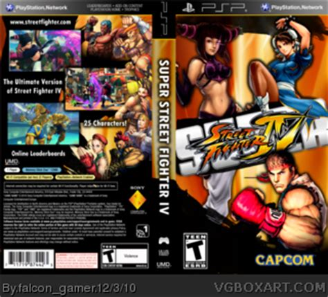 psp themes street fighter super street fighter iv psp box art cover by falcon gamer