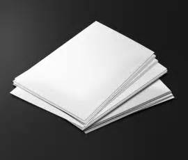 a stack of blank paper
