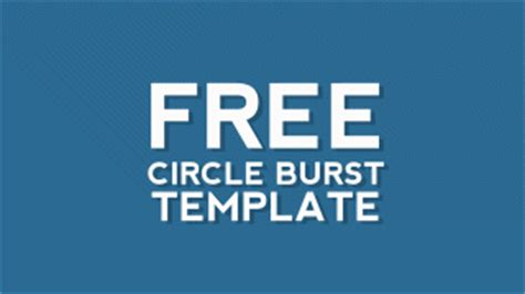free after effects template circle burst assets free after effects templates motion stacks
