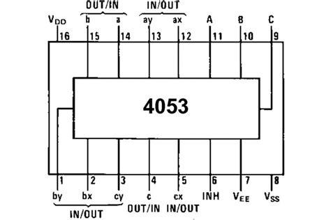 Analog Multiplexer Cd4053 Mux 4053 cmos logic ic mux 4053 dip16 partco verkkokauppa