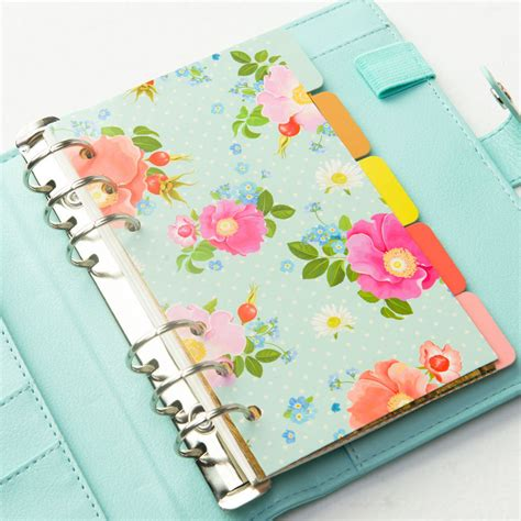 binder section dividers aliexpress com buy dokibook divider creative flowers