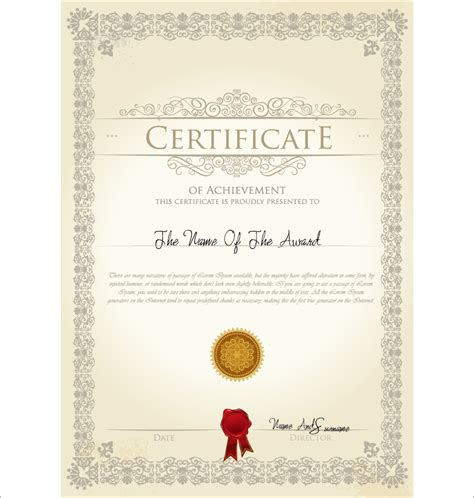 certificate design cdr format free download certificate illustpost