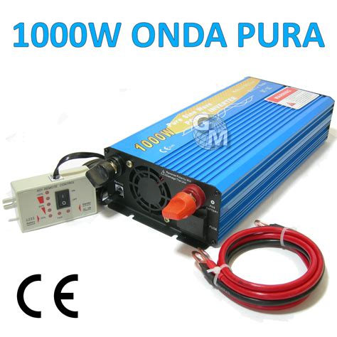 1000 Watt L by Power Inverter 1000w 1000 W Watt Onda Sinusoidale Pura 12v