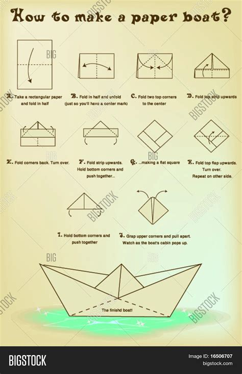 how to make a large paper boat how to make a paper boat stock vector stock photos