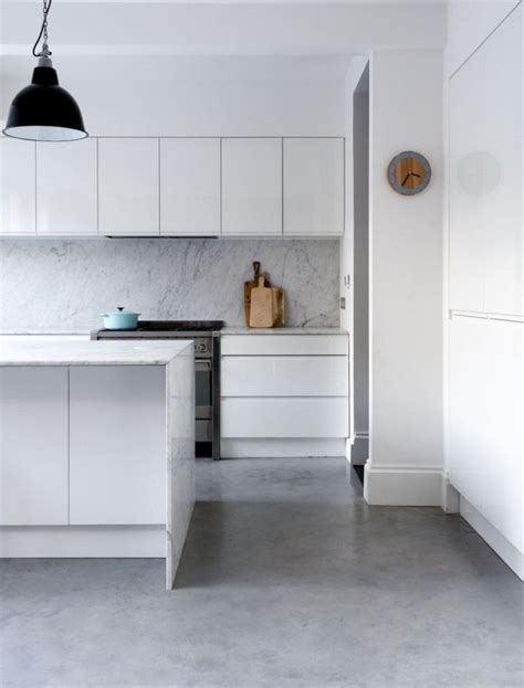 concrete kitchen floor polished gray floors this looks because it picks up