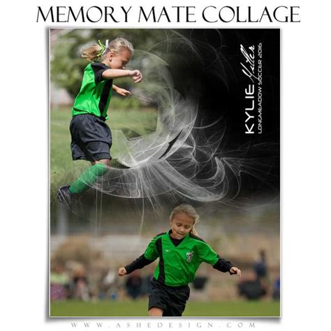 Ashe Design Sports Memory Mates Photoshop Templates 8x10 Mystic Explosion Soccer Ashe Photoshop Templates