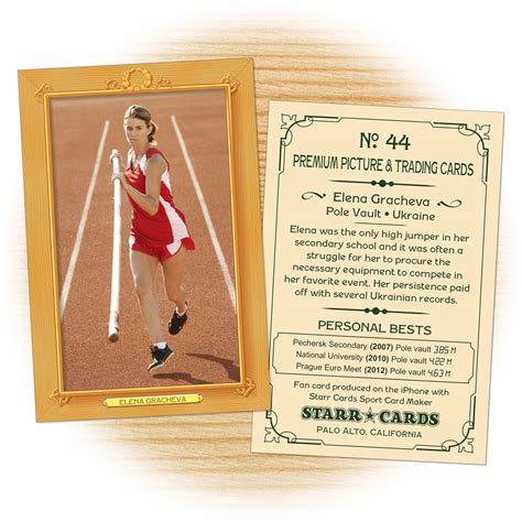 field card template custom track and field cards vintage 11 cards