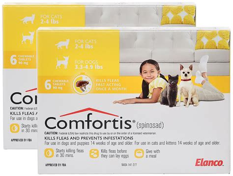 comfortis for puppies comfortis for dogs 3 5lbs cats 2 4lbs 12mnth yellow