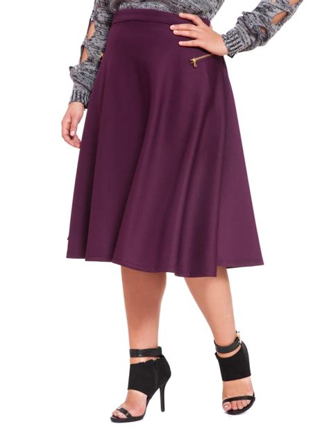 scuba midi skirt s plus size skirts eloquii