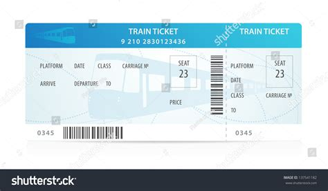 vector train ticket traveler check template layout