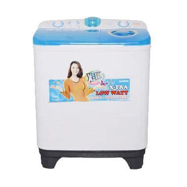 Daftar Mesin Cuci Sanken Satu Tabung jual sanken tw 9880 mesin cuci 2 tabung kapasitas 7 5kg