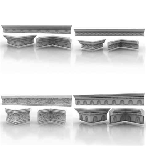 9 Moulding 3d cornice molding max