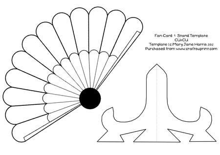 fan template pin by virginia montes on cards shapes