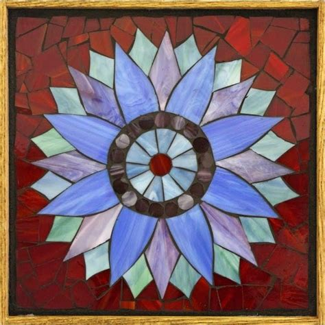 mosaic 4 students book 0194666476 student work framed stained glass mosaic sunflower 12 quot x 12 quot created by liz in a stained glass