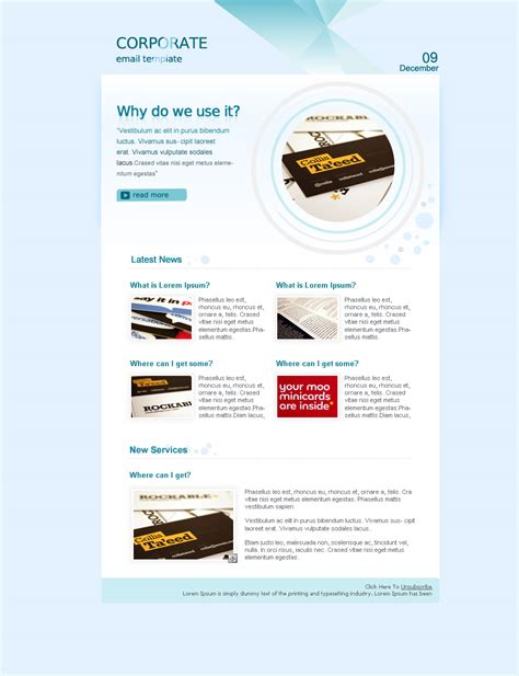 corporate template corporate email newsletter templates www pixshark