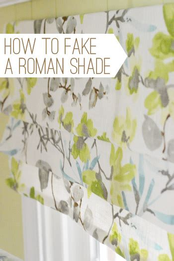 Easy window treatment how to make a fake roman shade young house love