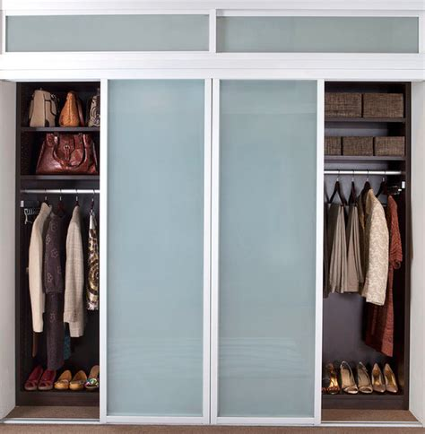 how to organize a closet with sliding doors closet sliding doors modern closet new york by transform home