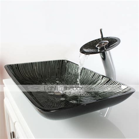 white rectangular vessel sink black white rectangular tempered glass vessel sink with