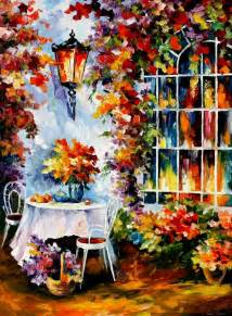 City Of Winter Garden Recreation - in the garden palette knife oil painting on canvas by