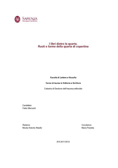 unipr lettere tesi di laurea magistrale i libri dietro la quarta
