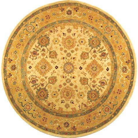 6ft Circular Rugs by Safavieh Anatolia Ivory Gold 6 Ft X 6 Ft Area Rug