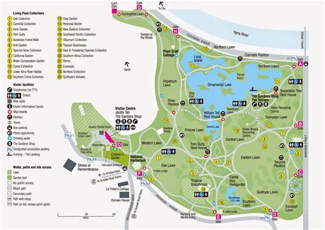 Map Of Melbourne Botanical Gardens Melbourne Botanic Gardens Map Royal Botanic Gardens Melbourne Reviews Tours Hotels Nearby Map