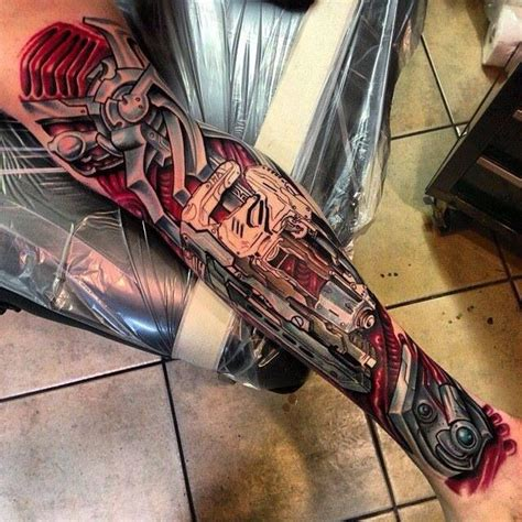 bio mechanical tattoo bio mech pinterest