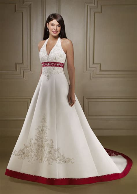 brautkleider rot formal wedding dresses color accent wedding dress