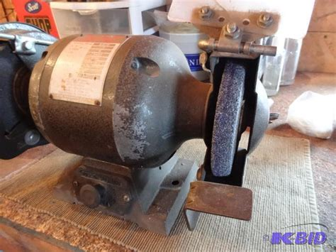 buffalo bench grinder buffalo model b 6cb 1 2 hp bench grinder 6 q k c auctions lake elmo estate